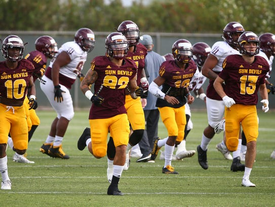 Arizona State wide receiver Jalen Harvey (82) at football