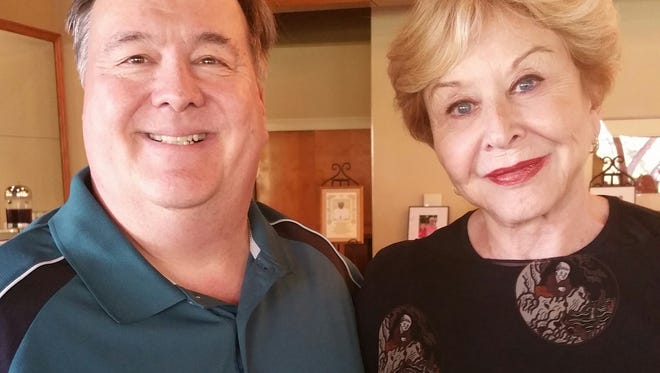 """Totem Pole Playhouse Producing Artistic Director, Rowan Joseph with Emmy Award-Winning Actress, Michael Learned who will star in Totem Pole's 2017 season opener, """"Driving Miss Daisy."""""""