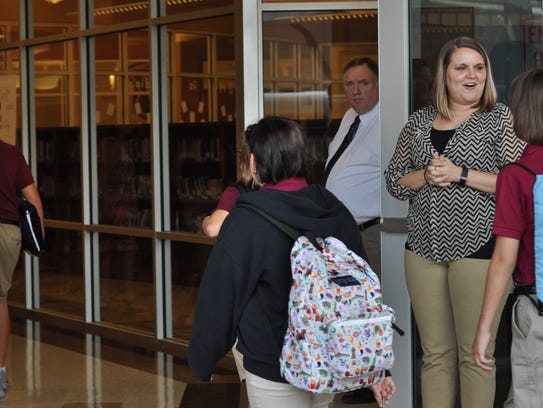 Students return to school Wednesday morning at Grant