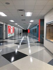 This rendering shows an example of where a new mural will be installed in Robstown Early College High School.