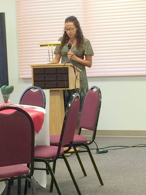 Clay Festival representative, Amy Rheubottom, discusses activities that are going to happen during the nine-day event.