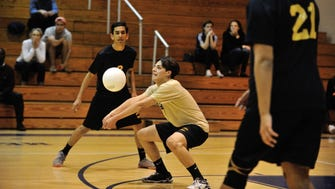 Hackensack libero Nick Esposito, shown during a 2016 match, found sanctuary in the game of volleyball during a tumultuous senior year.