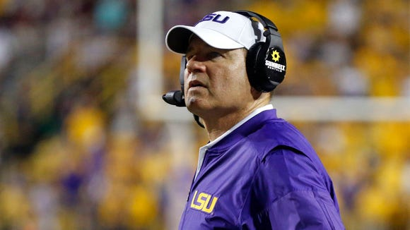 Les Miles won 114 games in 12 season at LSU, but lost 16 of his last 34 games there in the last five seasons.