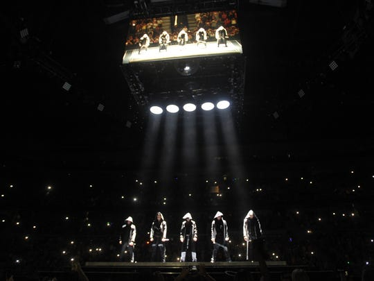 New Kids on the Block perform Friday night at the Palace.