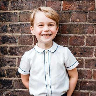 Prince George grins widely in adorable new portrait to celebrate his fifth birthday