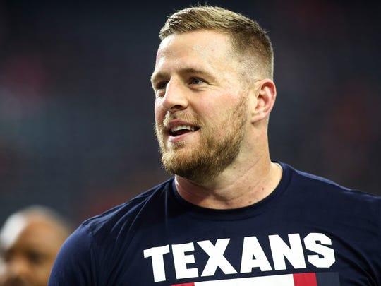 Houston Texans defensive end J.J. Watt (99) warms up