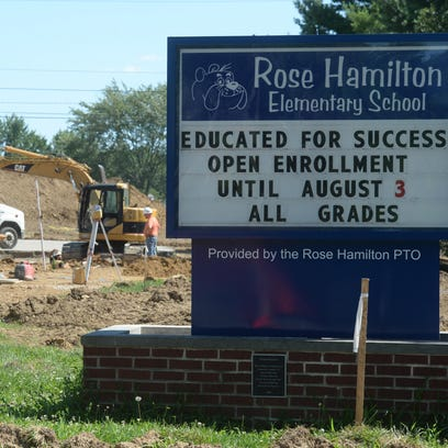 Parking lot and driveway construction continues Thursday