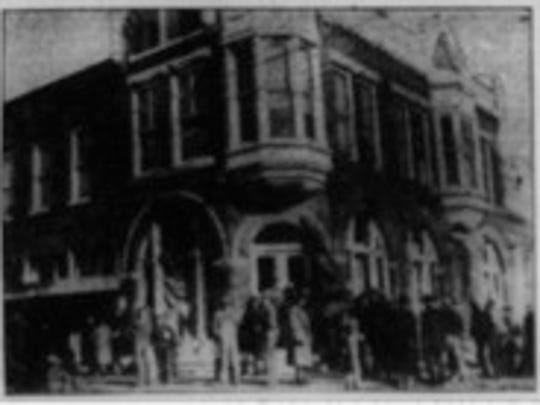 Sarcoxie Bank shortly after the robbery