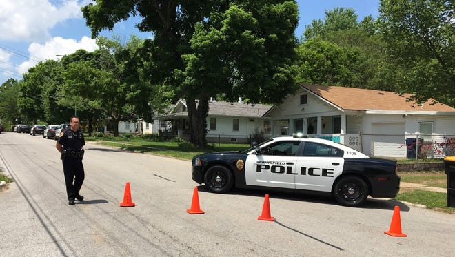 Police are at the scene of a reported shooting on West Walnut Street.