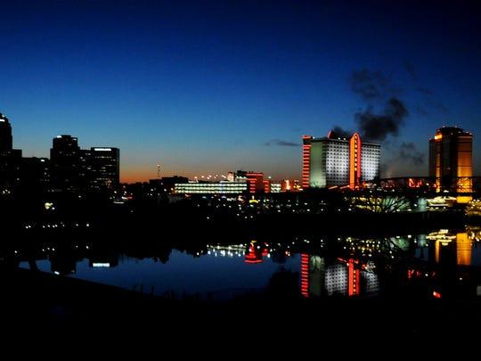Sunset on Shreveport.  Henrietta Wildsmith/The Times