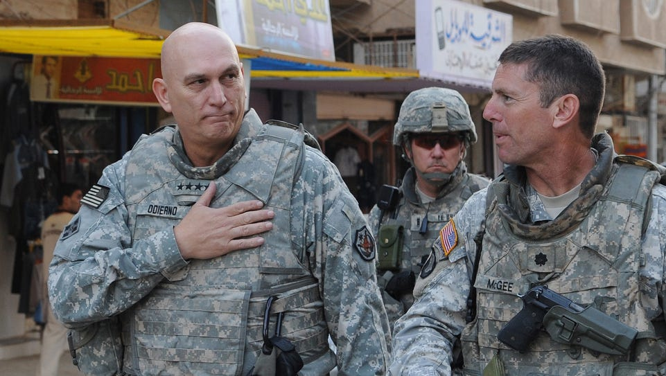 Gen. Ray Odierno, then-Commanding General, Multi-National