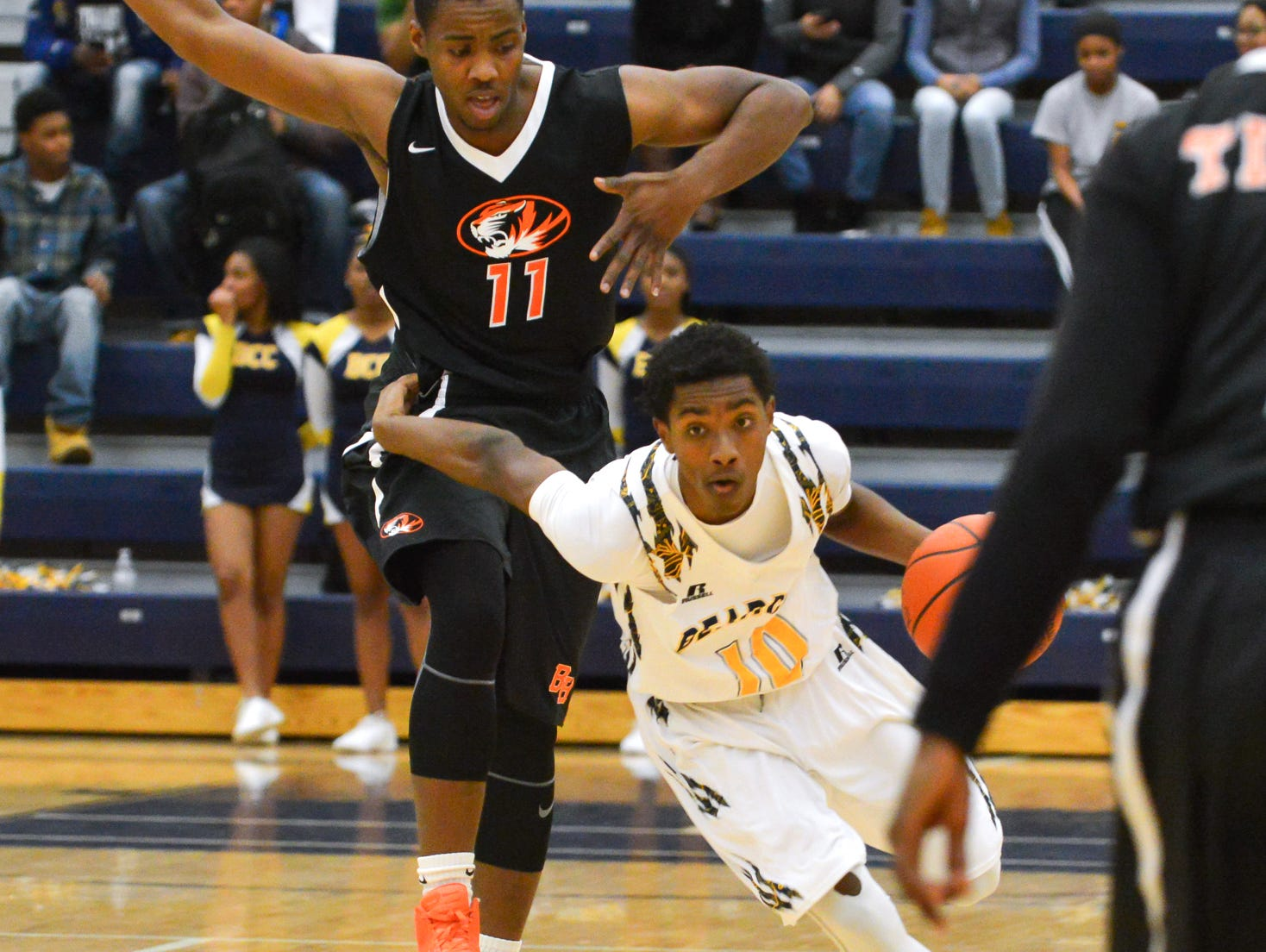 Central's Jahmiel Wade in game action Tuesday night.
