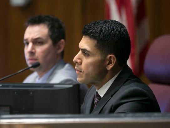 Sen. Steve Montenegro (foreground) and House Speaker