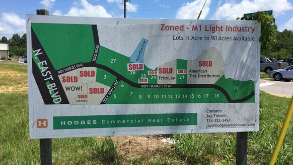 The Hodges companies are developing a stretch of land