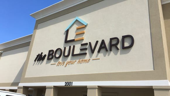 "The Boulevard furniture store's name and ""love your"