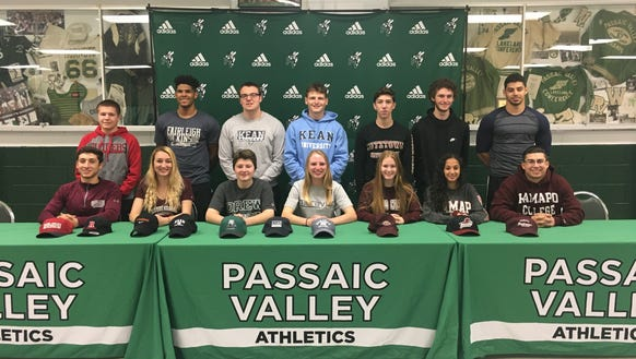 14 student-athletes at Passaic Valley made formal commitments