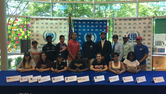 "Here is the ""All Sports"" photo of Passaic Tech athletes"