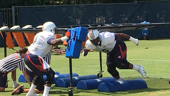 Auburn sophomore defensive lineman Derrick Brown going