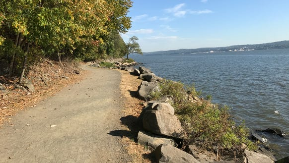 A terrific path runs along the Hudson River north of