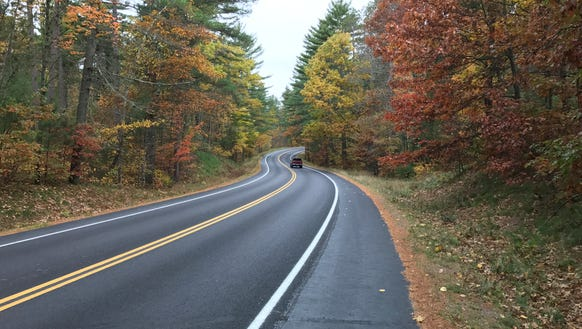 Cycling through the fall colors of Wisconsin's Northwoods ...