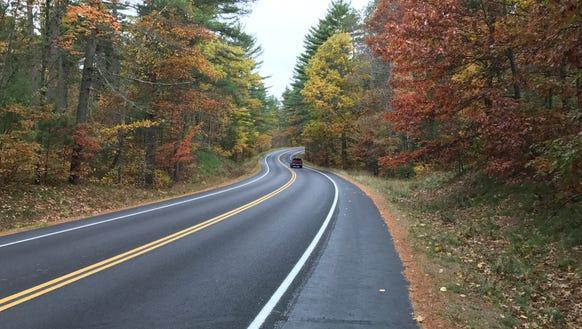 Curvy, colorful Oneida County J is a terrific road
