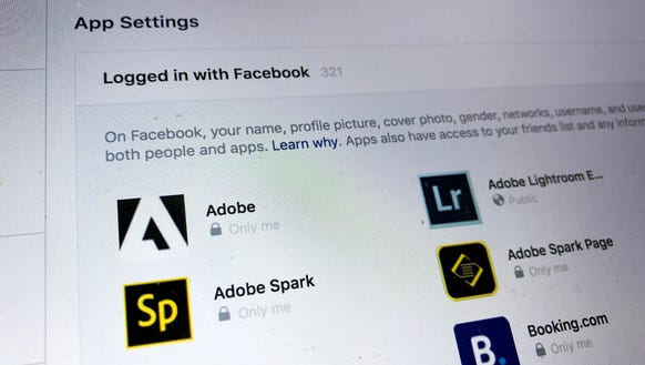 Facebook's page to delete apps