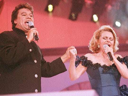 Juan Gabriel, who died a year ago Monday, and Rocío Dúrcal perform together in this undated photo. The late Dúrcal is known as the greatest interpreter of Juan Gabriel's music.