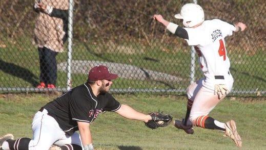 White Plains baseball beat Scarsdale 7-0 at White Plains April 12, 2016.