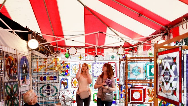 First day of the 43rd Annual Red River Revel in Festival Plaza Saturday afternoon.