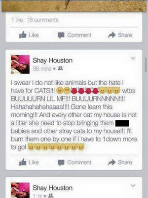 Houston's Facebook post