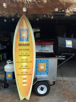 Ula Ula Hawaiian Hot Dog Co. is a new food cart, an affordable spinoff of the Red Top Gourmet Hot Dog food truck.