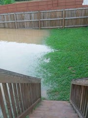 James Staigle provided this photo of the water level,