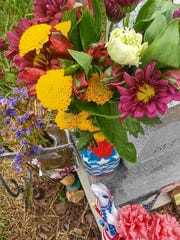 Dorothy Adkins said fresh flowers were reported from