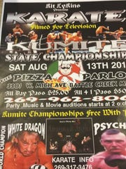 A promotional flyer for an event held Aug. 13 at The Pizza Parlor in Bedford Township.