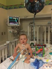 Baby Braxtel was hospitalized last month for a procedure but is doing well.