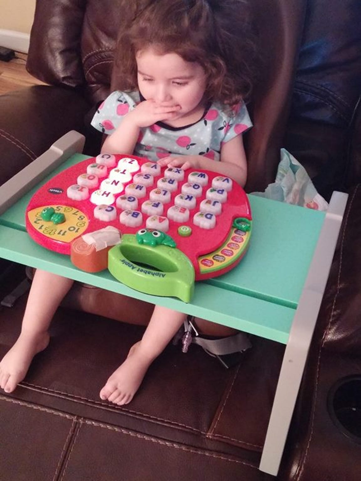 Ivy is slowly losing her ability to play with single-button