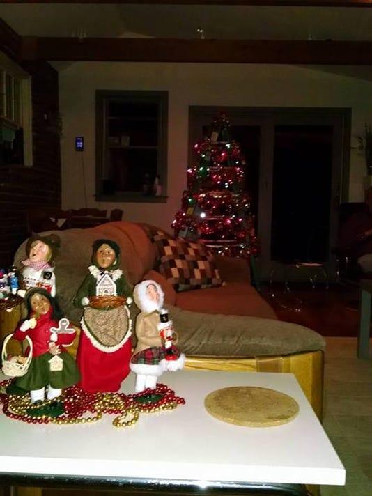 Christmas tree step ladder