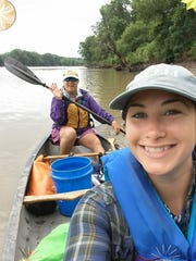 Molly Hanson takes to the river with Robin Fortney,