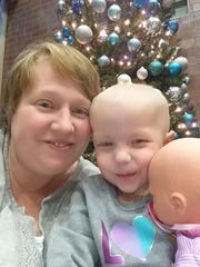 Misty Deavers is pictured with her niece, KK, who is being treated for cancer.