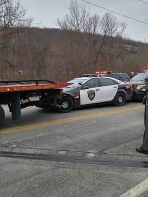 The Suffern Police Department assisted numerous agencies including the New York State Police, Ramapo police and several New Jersey police departments on Jan. 2, 2017. An East Rutherford police vehicle inadvertently became hooked onto the rear of a flatbed with the officer inside during a pursuit on the Thruway. Eventually the vehicle was stopped on Route 59 in Hillburn near the Suffern border. The suspect, Paul T. Gudanowski, was taken into custody.