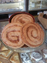 Elephant ears from Crust and Crumb Bakery in Beach Haven: These 10 inch-wide pastries are made from puff pastry baked with cinnamon, brown sugar and pecans.