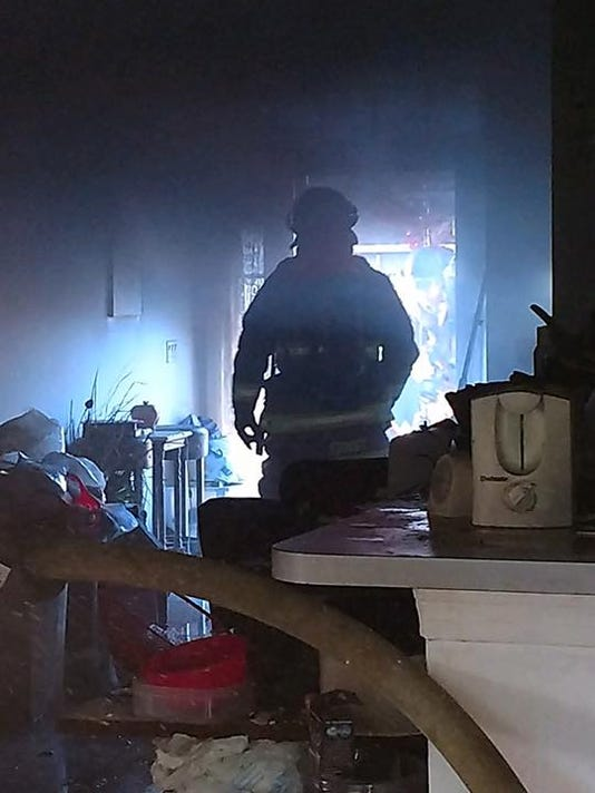 House fire Monday displaces three