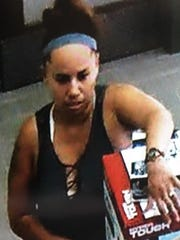 A suspect in a theft in Sandusky was caught on video trying to pawn items in Port Huron.
