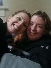 Beth Dix, left, with sister-in-law Megan Dix.