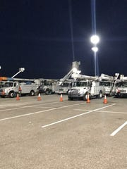 A crew of 22 New Mexicans are helping lead the way in turning power back on in Florida after Hurricane Irma wreaked havoc through the state on Sunday.