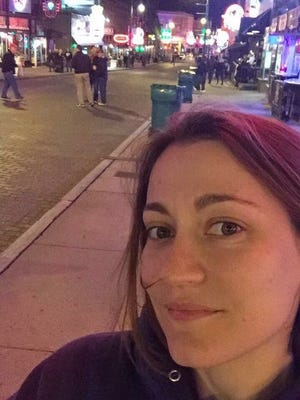 Southport High School English teacher Megan Woodward died Friday, a day after she fell while decorating a float for the homecoming celebration, according to Perry Township school police and a district spokeswoman