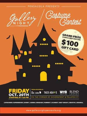 Gallery Night will feature a costume contest at 7:30 p.m. on Friday, Oct, 20.