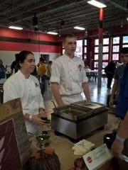 Sydnee Wolfe, of Cedar Crest High, and Jarrod Eltz, of Palmyra High School.