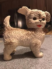Karen Clark of Allendale picked up this rubber dog at the Rutherford Street Fair a couple of years ago. Her husband Ted got one for Christmas circa 1960 and named it Woofie. This guy is Woofie II.