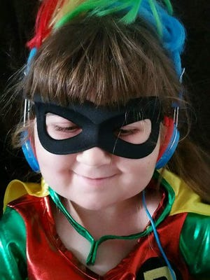 Rainbows were a big part of Daisy's life, and she loved Batman, Robin and the My Little Pony Rainbow Dash.